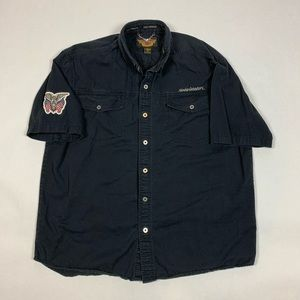 Harley Davidson Mens Button-Up Shirt
